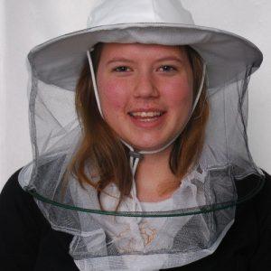 Dupla méhészsapka (kétrétegű vékony anyagból)